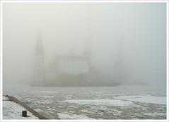 Docks in the mist ([ Petri ]) Tags: winter mist ice fog finland helsinki ship harbour crane shipyard hietalahti tallink fogtastic top20finland fogadelic