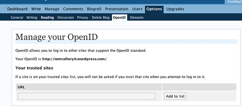 WordPress.com supports OpenID