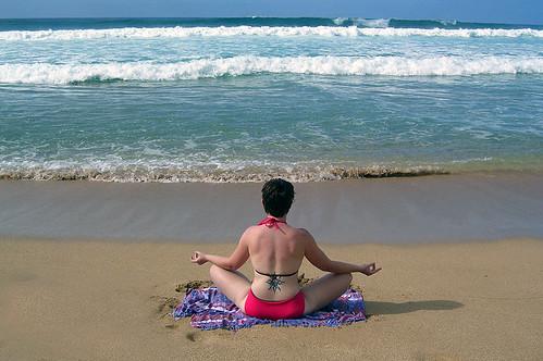 Beach Baddha Konasana