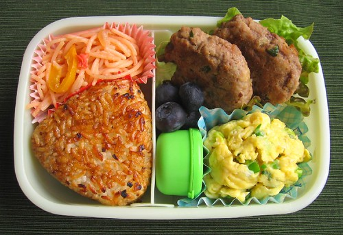 Speedy scrambled egg lunch お弁当