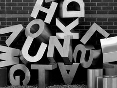 Alphabet Soup (taylorkoa22) Tags: city bw white black newmexico art typography soup words library letters albuquerque duke scrabble abq 300views alphabet 300 500 nm campbells 1000 ferguson erna 300v 1000v top20blackandwhite 30favs marcgutierrez