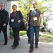 Geek men walking