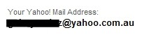 you yahoo mail address