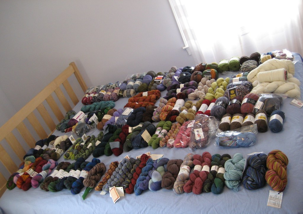 Sock Yarn Stash Exposed = 92 pairs worth