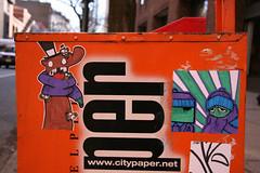 .). (damonabnormal) Tags: streetart art philadelphia illustration march artwork sticker 33 label stickers urbanart labels decal slap peel decals 07 mousse 2007 slaps morg uwp citystickers philadelphiastreetart philadelphiagraffiti philadelphiaartist