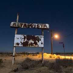 Avenue G (Lost America) Tags: sign night neon desert fullmoon timeexposure highdesert mojave moonlight antelopevalley altavista abigfave highvista suburbanality
