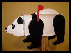 MY PANDA MAILBOX IS DONE!!!! (electra-cute) Tags: mailbox panda order custom