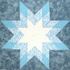 Blue & White Star Lotto Block