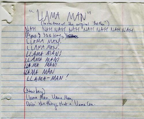 Llama Man.