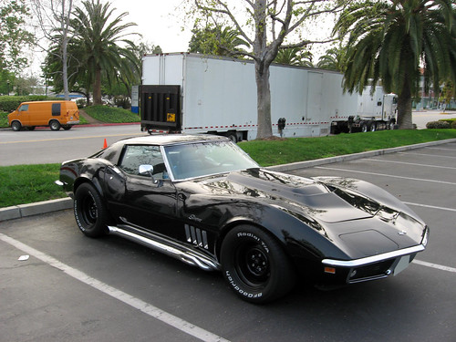Black Corvette Stingray 1969