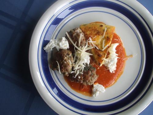polenta, sausage and pasta sauce II