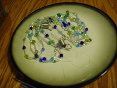 """partial strand of beads, to be knitted into Knitty's """"Bauble"""" bracelet (WyoLibrarian) Tags: beads knitting bauble knitty"""