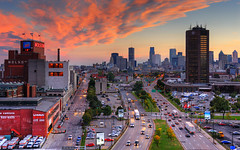 Sunset on CBC Montreal Skyline | davidgiralphoto.com (David Giral | davidgiralphoto.com) Tags: longexposure bridge sunset sky urban canada david cars skyline night landscape lights nikon highway long exposure downtown boulevard cityscape cloudy quebec dusk montreal royal churches cartier notredame highrise pont autoroute d200 jacques mont hdr villemarie giral blueribbonwinner nikond200 supershot 18200mmf3556gvr tthdr abigfave copyrightdgiral davidgiral anawesomeshot impressedbeauty bestofr