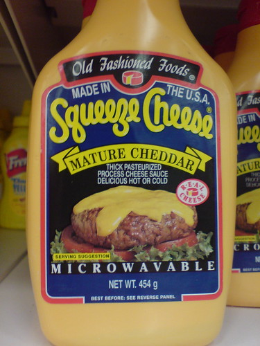Old fashioned foods squeeze cheese