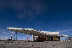 Islands (Lost America) Tags: night desert watertower gasstation fullmoon timeexposure mojave canopy lockhart