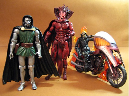 Doom, Mephisto and Ghost Rider