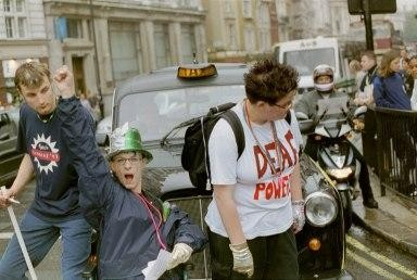 BSL March Road Block, London 2001