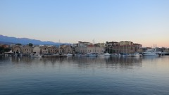Chania Venetian Harbour (JoannaRB2009) Tags: harbour sea water chaniavenetianharbour city oldtown old historical mediterranean island landscape cityscape seascape view sunset evening bluehour buildings architecture boats yachts chania hania xania canea crete kreta kriti greece summer