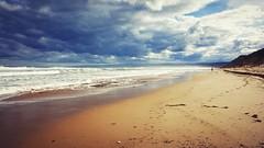 Beach Glow (Ross Major) Tags: beach landscape victoria anglesea australia clouds sky water sea ocean
