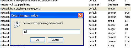 Changing network pipeline requests in Firefox