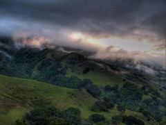 lucas valley, marin county (on2wheelz) Tags: morning 15fav mist dawn marin 2006 hills marincounty hdr rafi 3ofakind photomatix tonemapping lucasvalley jeffav jarcher on2wheelz jeffarcher raficutter2002 jeffav2006
