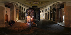 Church of the Holy Sepuchre - Coptic Chapel - Jerusalem, Old City - 360 (Sam Rohn - 360 Photography) Tags: travel panorama church architecture easter geotagged photography israel photo interesting nikon arch peace d70 nikond70 availablelight interior palestine jerusalem columns middleeast paz location panoramic christian photograph pace judaism nikkor churchoftheholysepulchre filmmaking stitched holyland filmproduction 360x180 oldcity qtvr scouting 360 jesuschrist paix churchofholysepulchre 360x180 panography alquds filmlocation locationscouting virtualtour locationscout equirectangular 105mmf28gfisheye filmlocations rohn filmscouting nylocations samrohn copticchapel realvizstitcher bestofpalestinegroup locationscouts geo:lat=31778581 geo:lon=35229378 virtualjerusalem filmscout virtiualtour