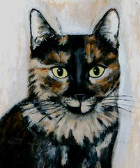"""October"" painting by Jane Diamond (Jane (on break)) Tags: orange cats brown black cat beige october etsy cutecat efa catportraits catart catpainting prettycat tortiecat longhairedcat tributepainting tortiseshellcat petpaintings paintingjanediamond etsyforanimals tortisehell janediamonddesigns"