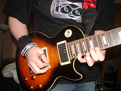 Me playing my 7 String Les Paul. (Andy Doyle) Tags: custom lespaul dimarzio 7string x2n x2n7 airnorton airnorton7