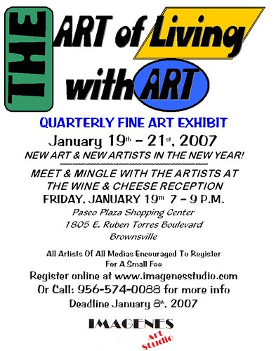 art of living with art flyer