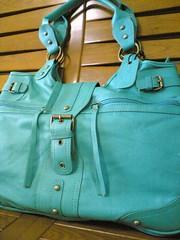 uber-turquoise bag...