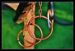 Anillas (DavidGorgojo) Tags: park parque orange game verde green film 35mm fuji searchthebest superia asturias rings pelicula juego naranja 100club navia óxido minoltadynax5 anillas 50club