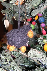 knitted sheep ornament