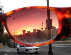 I was taking photos of the sunset and couldn't figure out why the color was coming out so blech on the camera. (Malingering) Tags: sunset sunglasses losangeles interestingness myeyes westla santamonicablvd mormontemple rosecoloredglasses interestingness136 impressedbeauty