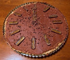 New Year's Eve chocolate tart