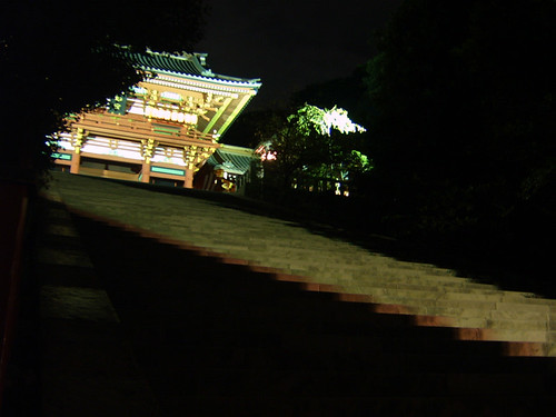 Kamakura temple by night