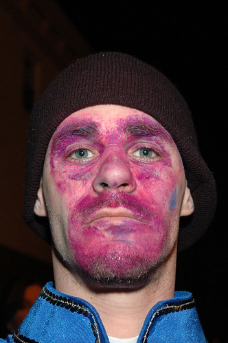 purple face paint web
