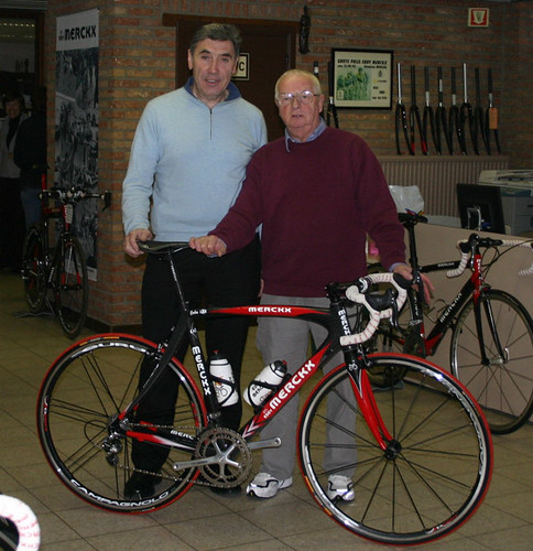Derek Eades and Eddy Merckx
