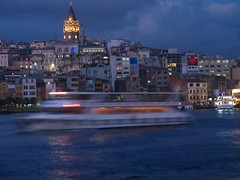 (Marchnwe) Tags: light sea tower night lights evening ship İstanbul
