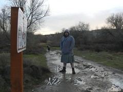 Hiking through the mud (lleugh) Tags: cold me kilt mud andlotsofit chimnanaturepreserve