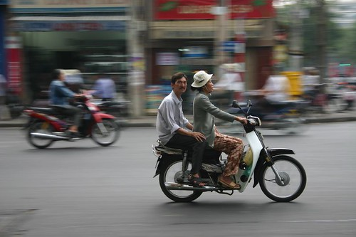 The ubiquitous rush hour in Saigon...Action-packed!