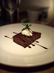 Chocolate Ganache with Creme Chantilly (Fahara) Tags: dessert restaurant chocolate warwickshire solihull thetownhouse restaurantreview