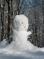 Sponge Bob Square Pants in snow