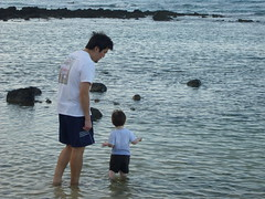 Testing the waters with Daddy (danilosparents) Tags: makapuubeach