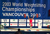 Wide shot of Vancouver Worlds 2003 (Rob Macklem) Tags: world 2006 strength olympic weightlifting championships domingo santo