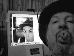 Meme me, and let the marbles roll where they may (Tojosan) Tags: selfportrait hat tongue self nikon meme coolpix boingboing friday esther17 tonguememe