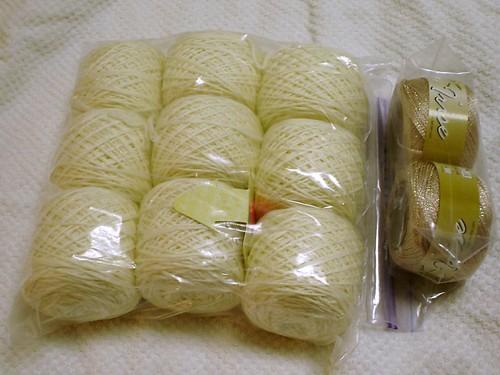 Cream and Beige Yarn