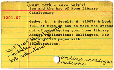 Catalogue card generated by blyberg.net