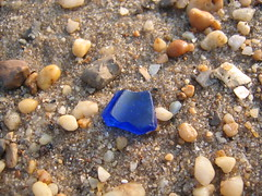 blue beach glass (MasterGeorge) Tags: blue sea beach glass sand gravel frosted cobalt
