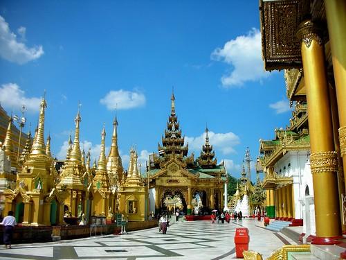 Templi in Birmania, Myanmar.