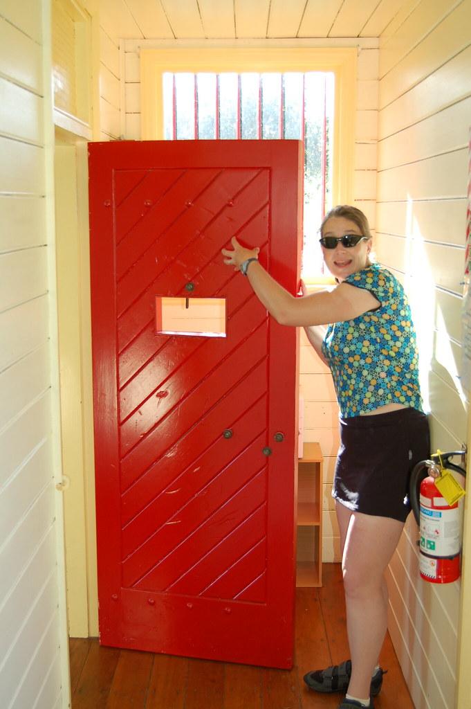 LeeAnne adds her marks to the door